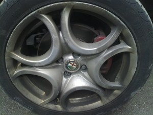 Alfa Alloy Wheel Repair Before